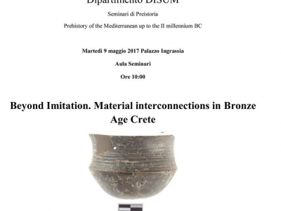 Seminario - Beyond Imitation. Material Interconnections in Bronze Age Crete